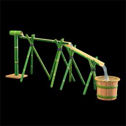 Bamboo noodle slide