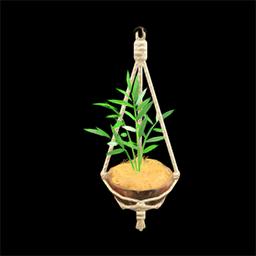 Coconut wall planter