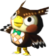 Blathers in Animal Crossing.