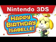 Nintendo 3DS - Miiverse Celebrates Isabelle's Birthday
