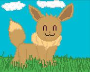 Eevee Pixel Art by @MxgicalJennifer