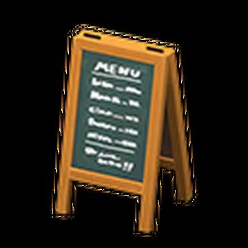 Menu Chalkboard Animal Crossing Wiki Fandom