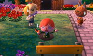 Player Falls, Isabelle and Katt Shocked