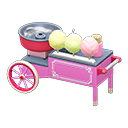 Cotton-candy stall