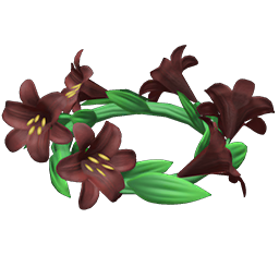 Dark lily crown
