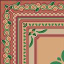 Flooring ornate rug