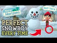 Animal Crossing New Horizons- How To Build PERFECT SNOWBOY EVERY TIME (ACNH Trick & Easy Method)