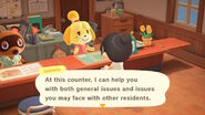 Isabelle Explaining her counter NH