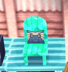Green chair emerald