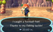 Footbal Fish Caught