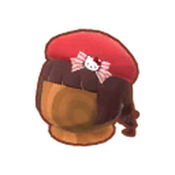 Hello Kitty Beret Wig