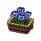 Furniture Potted Blue Pansies.png