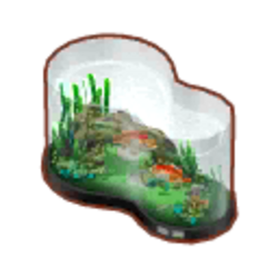 Large Curved Fish Tank