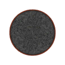 Furniture Round Black Rug.png