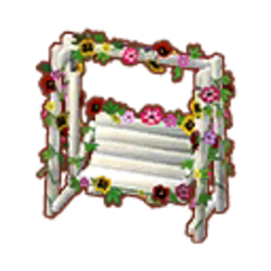 Floral Swinging Bench