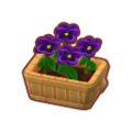 Furniture Potted Purple Pansies.png