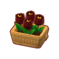 Furniture Potted Black Tulips.png