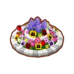 Round Spring Flower Bed
