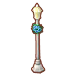 Rosy White Street Lamp