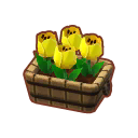 Furniture Potted Yellow Tulips.png