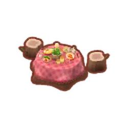 Red Veggie Dining Set