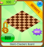 Giant-checkers board