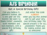 AJ Birthday Cake Collection