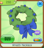 Wreath-Necklace Blue-Red