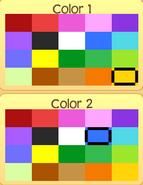 Pet turtle colors