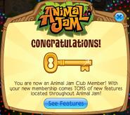 Membership Congratulations Key
