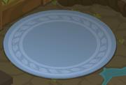 Cosmos-Den Blue-Shag-Carpet l
