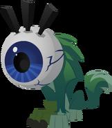 Wolf with eyeball hat