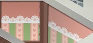 Friendship-Fortress Pink-Striped-Walls