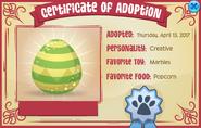Pet-Egg Certificate