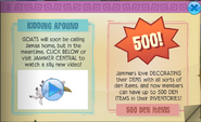 Animal Jam Goats in Jamaa + increased Den inventory