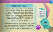 Animal Jam new chatting rules