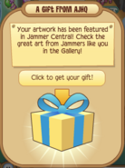 Receiving Artist Plaque