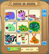 Choose-an-Animal Menu
