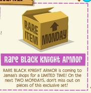 RareBlackKnightArmorAnnoucement