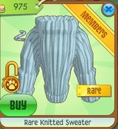 Rare knitted sweater