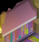 Pecks-Den Pink-Striped-Walls