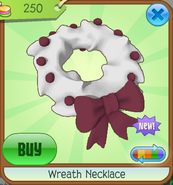 Trading-Party Wreath-Necklace Blue
