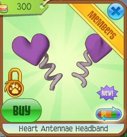 headband headband band stine with heart,