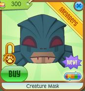 Creature Mask blue