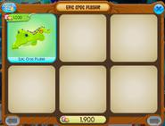 Epic croc plushie shopwindow