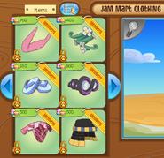 Jam Mart Clothing screen