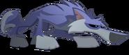 Dark blue wolf
