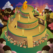 Aj birthday party panorama background