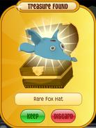 Meet-Cosmo Tiger Rare-Fox-Hat Cyan