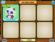 Epic panda plushie shopwindow